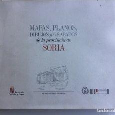 Libros de segunda mano: SORIA. MAPAS ,PLANOS, DIBUJOS Y GRABADOS. JUNTA DE CASTILLA, SORIA 1997, 274 PÁG.. Lote 195065530
