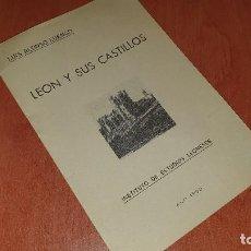 Libros de segunda mano: LEON Y SUS CASTILLOS, ALONSO LUENGO, ESTUDIOS LEONESES, AÑO DE 1960, CONFERENCIA. Lote 195073045