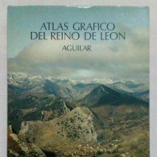 Libros de segunda mano: ATLAS GRÁFICO DEL REINO DE LEÓN. AGUILAR 1978. COMO NUEVO!!!. Lote 195307450