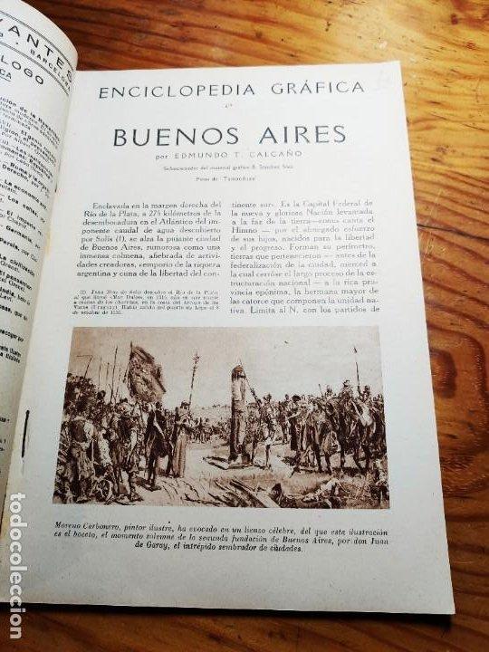 Libros de segunda mano: ENCICLOPEDIA GRAFICA. BUENOS AIRES.1930 ED.CERVANTES - Foto 2 - 195343820