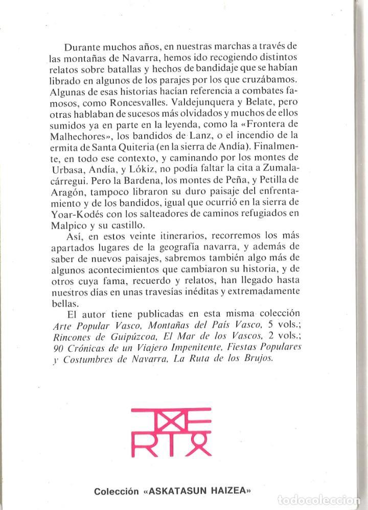 Libros de segunda mano: Navarra. De caminos, batallas y bandidos. L.P.Peña Santiago. 1986 - Foto 2 - 195389942