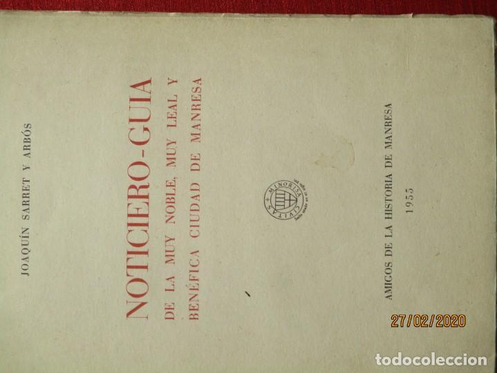 Libros de segunda mano: NOTICIERO GUIA DE LA MUY NOBLE CIUDAD DE MANRESA. 1955. JOAQUIN SAURET Y ARBOS. 112 PGS. CON FOTOS - Foto 5 - 195391713