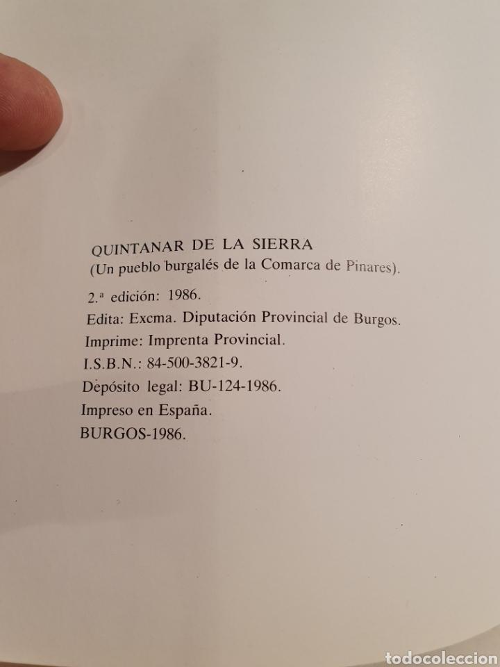 Libros de segunda mano: QUINTANAR DE LA SIERRA. UN PUEBLO BURGALES DE LA COMARCA DE PINARES. PEDRO GIL DE ABAD. - Foto 4 - 195392465