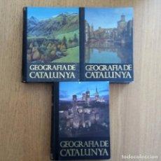 Libros de segunda mano: GEOGRAFIA DE CATALUNYA 3 VOLUMS (CATALÀ) AEDOS. Lote 196593498