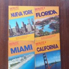 Libros de segunda mano: LOTE DE 4 LIBROS GUIAS TURISTICAS BERLITZ (1981-87) NY, MIAMI, FLORIDA Y CALIFORNIA. Lote 199670217