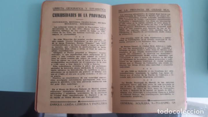Libros de segunda mano: LIBRETA GEOGRAFICA Y ESTADISTICA CURIOSIDADES DIVERSAS DE CIUDAD REAL 1945 DE 45 PGS. 13 X 10 - Foto 3 - 200363713