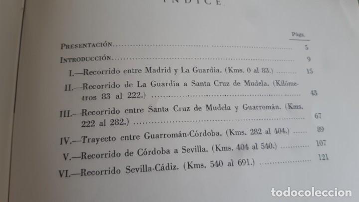 Libros de segunda mano: DESCRIPCION GEOGRAFICO GEOLOGICA DEL ITINERARIO MADRID CADIZ POR LA NACIONAL A-4 DE 1962 - Foto 2 - 200365090