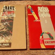 Libros de segunda mano: 2 ATLAS DE ESPAÑA EL PAIS, AÑOS 92/93. Lote 202613205