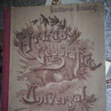 Libros de segunda mano: ATLAS GEOGRÁFICO UNIVERSAL SALVADOR SALINAS BELLVER 1942. Lote 203070255