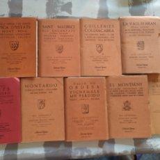 Libros de segunda mano: LOTE DE 9 GUÍAS CARTOGRÁFICA DE CATALUÑA, CON MAPAS. EDITORIAL ALPINA. 1971. Lote 204820987