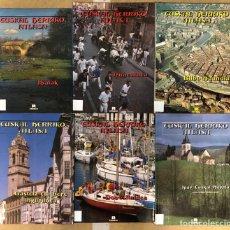 Libros de segunda mano: EUSKAL HERRIKO ATLASA. LOTE DE 6 VOLÚMENES. KRISELU ARGITALDARIA. EUSKARAZ.. Lote 205244758