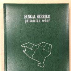 Libros de segunda mano: EUSKAL HERRIKO PAISAIETAN ZEHAR. VV.AA. ETOR OSTOA 1994.. Lote 205262636