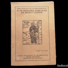 Libros de segunda mano: REFRANES AGRÍCOLAS DE MESES Y SANTOS.. Lote 206391822