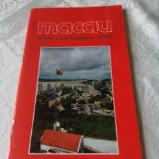 Libros de segunda mano: MACAU. TRAVEL TRADE HANDBOOK. 1987-1988. INTERESANTE GUÍA ANTES DE LA INCORPORACIÓN A CHINA EN 1999.. Lote 207516662