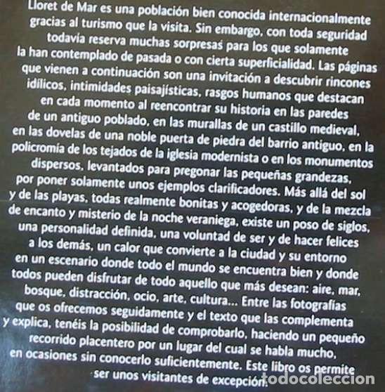 Libros de segunda mano: LLORET DE MAR - JOAN DOMENECH MONER / MIQUEL BADIA - LUNWERG EDITORES 2004 - VER INDICE Y FOTOS - Foto 2 - 209032040