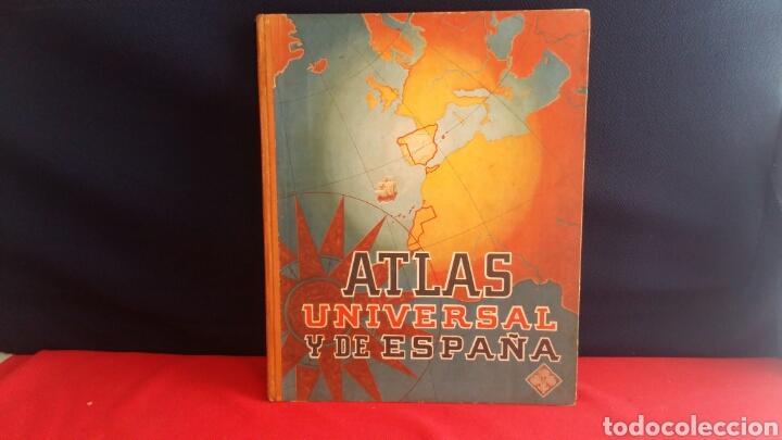 LIBRO ATLAS UNIVERSAL Y DE ESPAÑA EDELVIVES (Libros de Segunda Mano - Geografía y Viajes)