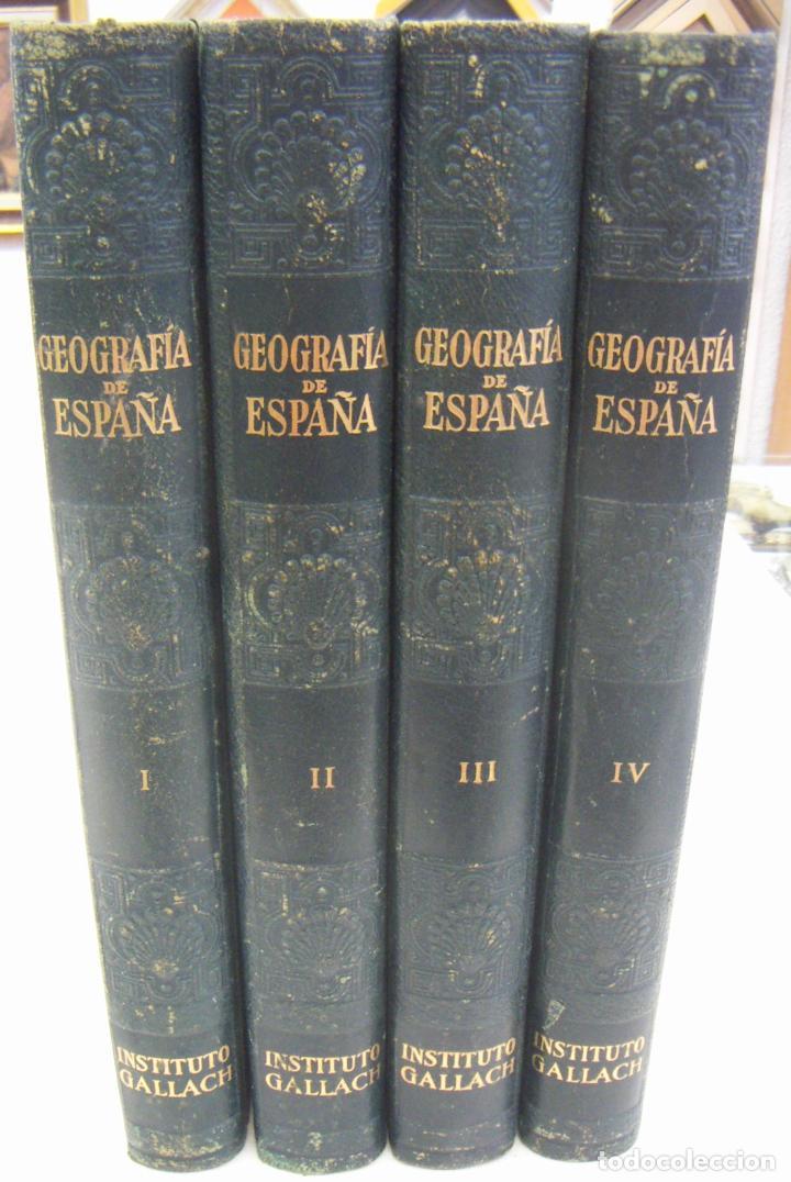 Libros de segunda mano: GEOGRAFIA DE ESPAÑA - 4 TOMOS - EDI GALLACH 1955 PERFECTOS - Foto 7 - 209601426