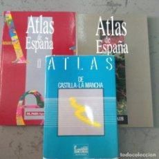 Libros de segunda mano: LOTE 3 ATLAS ESPAÑA, EL PAÍS Y CASTILLA LA MANCHA. Lote 210446027