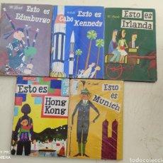 Libros de segunda mano: 5 LIBROS DE M. SASEK. ESTO ES IRLANDA, MÚNICH, HONG KONG, CABO KENNEDY, EDINBURGO. Lote 211648295