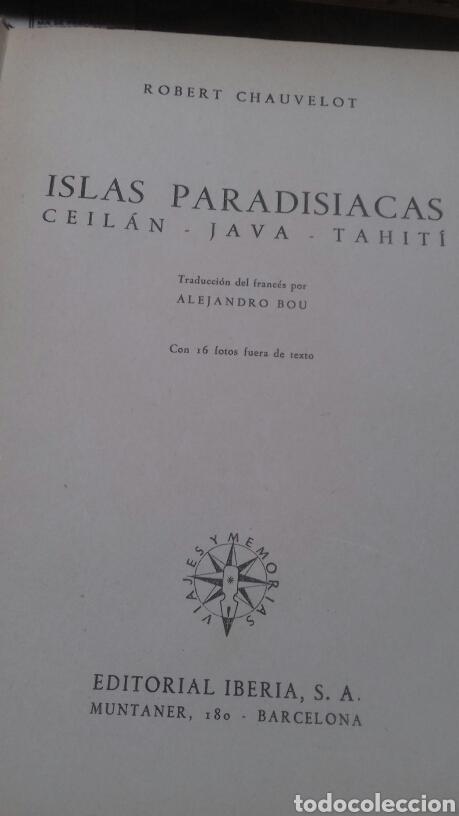 Libros de segunda mano: Islas paradisiacas. Ceilan java y tahiti. Chauvelot - Foto 3 - 215178171