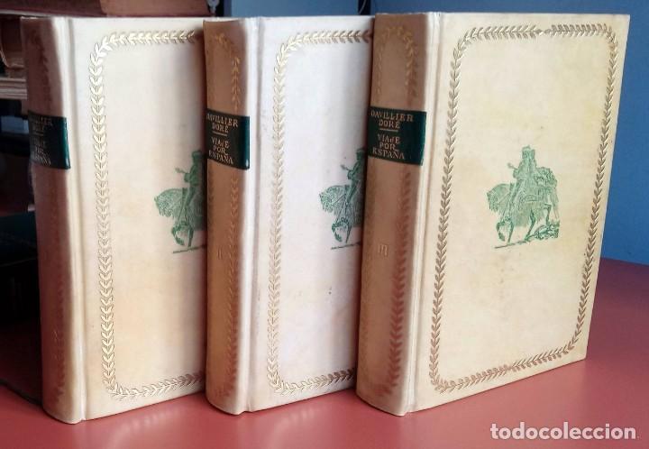 VIAJE POR ESPAÑA - 3 TOMOS - COMPLETA - DAVILLIER - DORE - ILUSTRADO - LIMITADA - COLECCIONISMO (Libros de Segunda Mano - Geografía y Viajes)