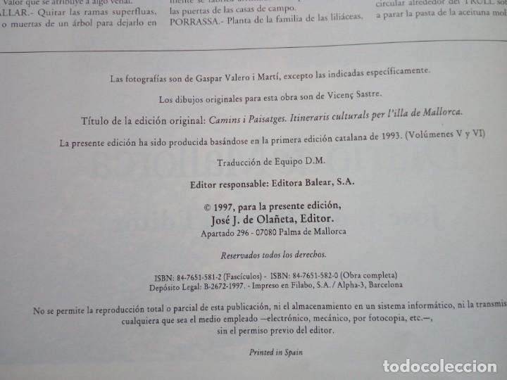 Libros de segunda mano: CAMINOS Y PAISAJES 2 TOMOS itinerarios culturales por la isla de mallorca Gaspar Valero i Martí - Foto 7 - 218137083