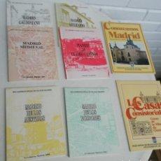 Libros de segunda mano: RECORRIDOS DIDÁCTICOS POR MADRID. 8 LIBROS MONOGRÁFICOS SOBRE ASPECTOS Y RINCONES (VER DESGLOSE). Lote 218603550