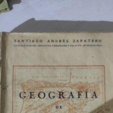 Libros de segunda mano: GEOGRAFÍA DE ESPAÑA 1957. Lote 218938286
