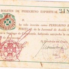 Libros de segunda mano: ANTIGUO BOLETÍN DE PEREGRINO ESPIRITUAL A SANTIAGO DE COMPOSTELA. Lote 219601112