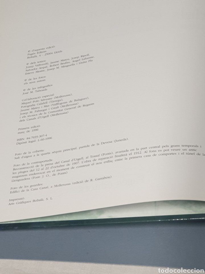 Libros de segunda mano: El Tresor del Canals D Urgell - Primera Edición 1996 - Foto 2 - 221265196