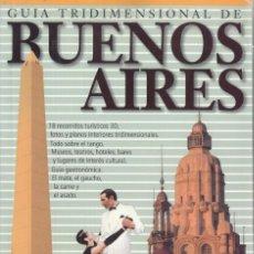 Libros de segunda mano: DANIEL SANTORO. GUÍA TRIDIMENSIONAL DE BUENOS AIRES. ARGENTINA 2005.. Lote 224044377