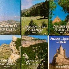 Libros de segunda mano: LOTE LIBROS PACK 6 TOMOS - PARAÍSOS DE LA NATURALEZA - ANDALUCIA NAVARRA PAIS VASCO CASTILLA Y LEON. Lote 170893455