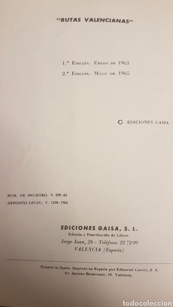 Libros de segunda mano: RUTAS VALENCIANAS, DE JOSÉ SOLER CARNICER, 2 EDICIÓN 1965 - Foto 3 - 225091007