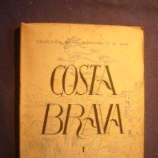 Libros de segunda mano: M.R. WENNBERG: - COSTA BRAVA (I: DE BLANES A PLAYA DE ARO) - (BARCELONA, 1944). Lote 225148215
