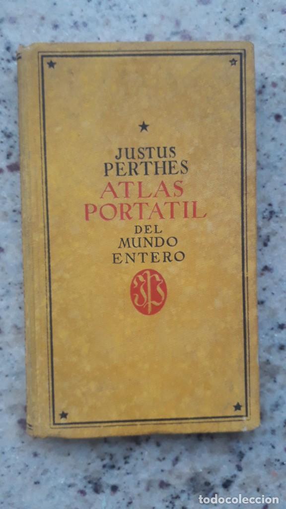 ATLAS PORTATIL DE ESPAÑA Y PORTUGAL, PERTHES, JUSTUS, 1938 (Libros de Segunda Mano - Geografía y Viajes)