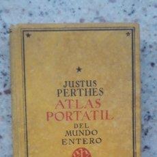 Libros de segunda mano: ATLAS PORTATIL DE ESPAÑA Y PORTUGAL, PERTHES, JUSTUS, 1938. Lote 226107990