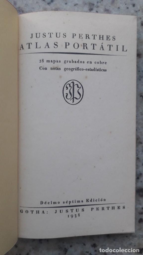 Libros de segunda mano: ATLAS PORTATIL DE ESPAÑA Y PORTUGAL, PERTHES, JUSTUS, 1938 - Foto 2 - 226107990