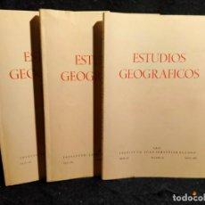 Libros de segunda mano: ESTUDIOS GEOGRÁFICOS. LB11. Lote 227031060