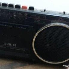 Libros de segunda mano: RADIO CASSETTE PHILIPS PORTÁTIL. Lote 227715395