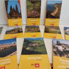 Libros de segunda mano: OCASIÓN !! LAS MEJORES RUTAS EN COCHE POR... LOTE DE 11 GUIAS NUEVAS SIN USO / RACC-EDICIONS 62.. Lote 227827355
