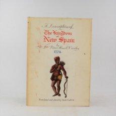 Libros de segunda mano: A DESCRIPTION OF THE KINGDOM OF NEW SPAIN, 1972, PEDRO ALONSO O'CROULEY, ALLEN FIGGIS, DUBLIN.. Lote 228261725