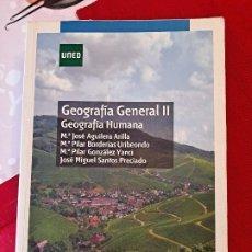 Libri di seconda mano: GEOGRAFÍA GENERAL I Y II UNED Y LIBRO DE EJERCICIOS. Lote 230959345