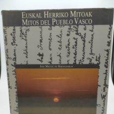 Libros de segunda mano: MITOS DEL PUEBLO VASCO. EUSKAL HERRIKO MITOAK. JOSÉ MIGUEL DE BARANDIARÁN. Lote 232337075