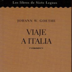 Libros de segunda mano: VIAJE A ITALIA - GOETHE. Lote 232683595
