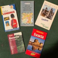 Libros de segunda mano: LOTE DE GUÍAS DE VIAJE DE LONDRES Y ESCOCIA. Lote 232889365