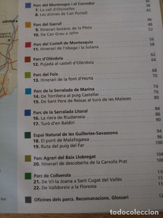 Libros de segunda mano: RUTES DE FLORA I FAUNA - XARXA PARCS NATURALS - DIPUTACIÓ BARCELONA 2008 - CATALÀ - Foto 4 - 236913755