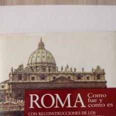 Libros de segunda mano: GUIA DE ROMA, CON RECONSTRUCION DE EDIFICIOS.TAMAÑO BOLSILLO1962.. Lote 238424430