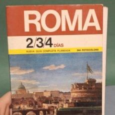 Libros de segunda mano: ROMA NUEVA GUÍA COMPLETA PLANEADA CON 344 FOTOCOLORS. Lote 243128740