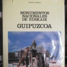 Libros de segunda mano: EUSKADI,GUIPÚZCOA GIPUZKOA, MONUMENTOS NACIONALES DE EUSKADI. .. Lote 243524910