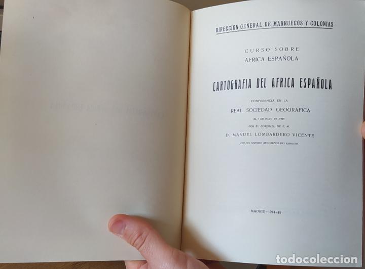 CARTOGRAFÍA DEL ÁFRICA ESPAÑOLA, MANUEL LOMBARDERO, REAL SOCIEDAD GEOGRAFICA, 1944-45 RARO (Libros de Segunda Mano - Geografía y Viajes)